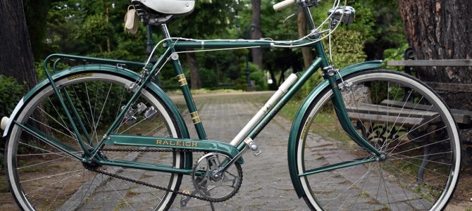 Raleigh Sports 3-speed light green