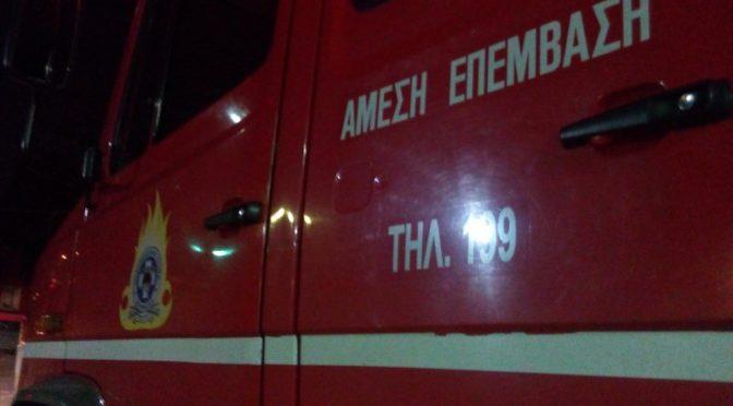 Πυρκαγιά ξέσπασε σήμερα το απόγευμα σε κτηνιατρείο στην Άνοιξη, του Δήμου Διονύσου. Η φωτιά εκδηλώθηκε στον ημιυπόγειο χώρο του κτηνιατρείου και για την κατάσβεσή της επιχείρησαν 6 πυροσβέστες με 3 οχήματα.