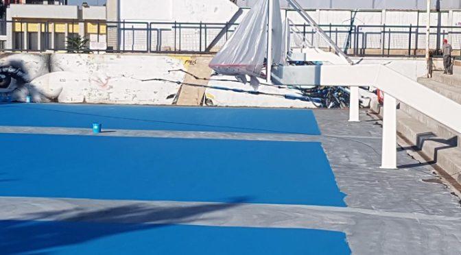Με γρήγορους ρυθμούς συνεχίζονται οι εργασίες συντήρησης και ανακατασκευής των ανοιχτών γηπέδων μπάσκετ στο αθλητικό κέντρο Ν.Πέρκιζας.