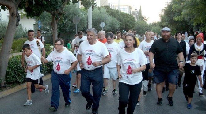 Τη Φλόγα της Αγάπης της 15ης Πανελλήνιας Λαμπαδηδρομίας Εθελοντών Αιμοδοτών Ελλάδος, υποδέχτηκε στο Μαρούσι ο Δήμαρχος Αμαρουσίου κ. Γιώργος Πατούλης, με τους εθελοντές και τους εκπροσώπους συλλόγων και φορέων της πόλης να δίνουν δυναμικό παρών.