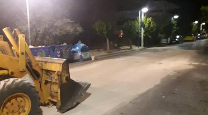 Νυχτερινή αποστολή για την Πολιτική Προστασία του Δήμου Βριλησσίων.