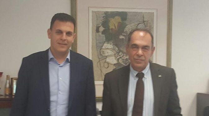 Με τον Γιώργο Ιωακειμίδη, πρόεδρο της Περιφερειακής Ένωσης Δήμων Αττικής. (Π.Ε.Δ.Α.) και Δήμαρχο Νίκαιας-Αγ. Ι. Ρέντη, συναντήθηκε ο Γιώργος Καραμέρος, Αντιπεριφερειάρχης Περιφερειακής Ενότητας Βόρειου Τομέα Αθηνών.