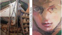 """Η Γκαλερί Χρυσόθεμις παρουσιάζειτην έκθεση ζωγραφικής των Ουρανίας Βολονάκη και Εύας Μελά """"Συνάντηση""""."""