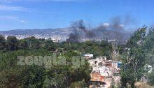 Φωτιά ξέσπασε σε υπαίθριο χώρο στο Χαλάνδρι, κοντά στη λεωφόρο Μεσογείων, πίσω από το Halandri Tennis Club.
