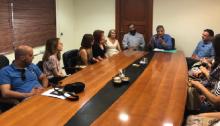 Συνάντηση γνωριμίας είχε ο Δήμαρχος Αμαρουσίου κ. Γιώργος Πατούλης με τους 10 νέους εργαζόμενους που θα στελεχώσουν τις Κοινωνικές Υπηρεσίες του Δήμου Αμαρουσίου, παρουσία τουΠροέδρου του ΟΚΟΙΠΑΔΑ Πέτρου Κόνιαρη, της Αντιπροέδρου Κατερίνας Ιωάννουκαι τουΓενικού Γραμματέα του Δήμου Γεώργιου Διδασκάλου.
