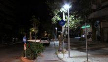 Μετά από πολύμηνες υποσχέσεις άναψε χθες ο ειδικός φωτισμός στον ποδηλατόδρομο της βιοκλιματικής!