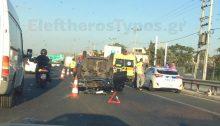 Τροχαίο ατύχημα έχει προκαλέσει ουρές χιλιομέτρων στην κάθοδο της εθνικής οδού που ξεκινούν λίγο μετά το ύψος της Βαρυμπόμπης.