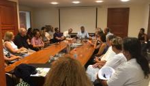 Ο Δήμαρχος Αμαρουσίου Γιώργος Πατούλης πραγματοποίησε συνάντηση με τους Διευθυντές των Γυμνασίων και Λυκείων της πόλης ενόψει της νέας σχολικής χρονιάς.