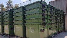 Ολοκληρώνεται αυτές τις μέρες η τοποθέτηση 890 νέων κάδων απορριμμάτων στην περιοχή του Πατήματος και της Τούφας.