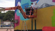 Μια νέα τοιχογραφία κοσμεί το3ο Γυμνάσιο Κηφισιάς.