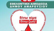 Τριήμερο Εθελοντικής Αιμοδοσίας διοργανώνει ο Οργανισμός Κοινωνικής Πολιτικής και Αλληλεγγύης του Δήμου Αμαρουσίου, με την τήρηση όλων των μέτρων πρόληψης και ασφάλειας των συμμετεχόντων στην αιμοδοσία από τη λοίμωξη covid-19, σύμφωνα με τα πρωτόκολλα του ΕΟΔΥ.